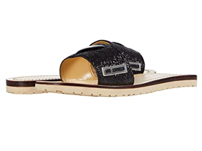 LOVE Moschino Heart Sandal (Black) Women