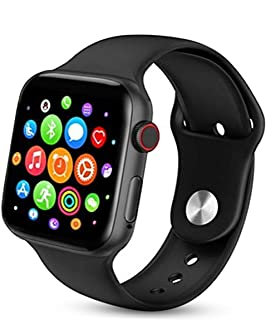 Smart Watch Series 5 T500 Full Screen Bluetooth Heart Rate Monitor Compatible with Apple iOS Android Phone (Black)