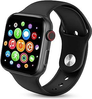 ساعة يد ذكية T500 سلسلة 5 بشاشة كاملة تعمل بالبلوتوث تقوم بقياس معدل ضربات القلب متوافقة مع جوالات ابل ونظام iOS وAndroid...