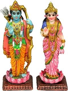 Krishna Culture Sita Rama Standing India Statues 4.75