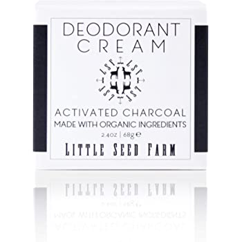 Little Seed Farm All Natural Deodorant Cream, Aluminum Free Deodorant for Women or Men, 2.4 Ounce - Activated Charcoal