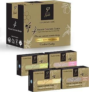Naturkosmetik Bio Naturseife, Olivenölseife Haarseife   Seife Stück für Körper & Gesicht  Luxus Geschenk für Frauen und Männer   Griechisches Naturprodukt   400gr