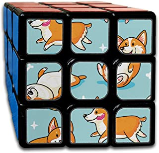 Custom 3x3 Cube 3 Magic Best Brain Training Toys 3x3x3 Cartoon Cute Funny Pet Dog Chihuahua Magic Speed Cube Party Game for Boys Girls Kids Toddlers-55mm