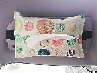 Car Tissue Holder Sun Visor, Hanging Mask Dispenser for Car, Backseat Headrest Car Tissue Box Cute, Floral Tissue Storage ...