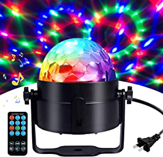 Disco Ball Disco Lights-COIDEA Party Lights Sound Activated Storbe Light With Remote Control DJ Lighting,Led 3W RGB Light ...