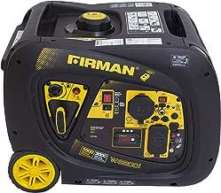 Firman W03083 3300/3000 Watt Remote Start Gas Portable Generator cETL and CARB Certified, Black