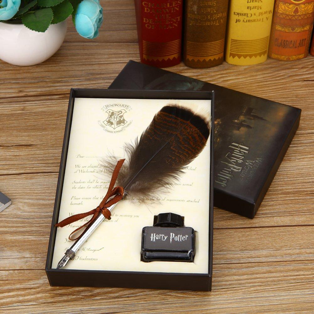 Pluma antigua pluma con juego de tinta Pluma Dip Pen caligrafía ...