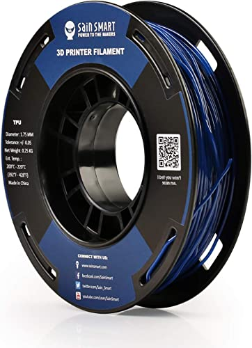 SainSmart TPU Filament 1.75 Dark Blue Flexible TPU 3D Printing Filament 1.75 mm 250g Solid Color Dimensional Accuracy...