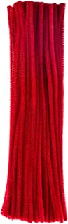 eBoot 100 Pieces Pipe Cleaners Chenille Stem for Arts and Crafts, 6 x 300 mm (Red)