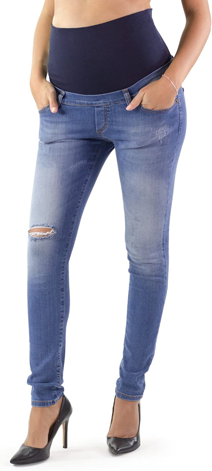MAMAJEANS  Rimini Skinny Fit Maternity Jeans Made in