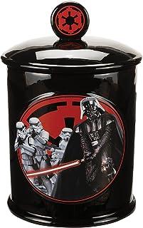 Zeon M13368 - Galletero con tapa, diseño Star Wars Darth Vader y compañía - Galletero cerámica Star Wars Darth Vader