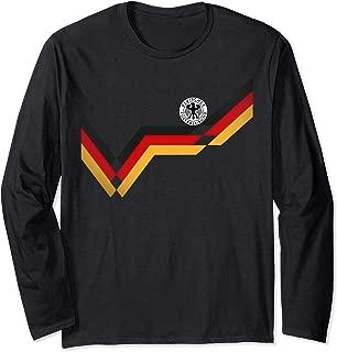 Germany Soccer Jersey Vintage German 1990 Retro Football Top Long Sleeve T-Shirt