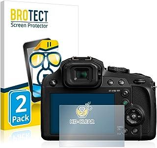BROTECT Protector Pantalla Compatible con Panasonic Lumix DC-FZ82 Protector Transparente (2 Unidades) Anti-Huellas