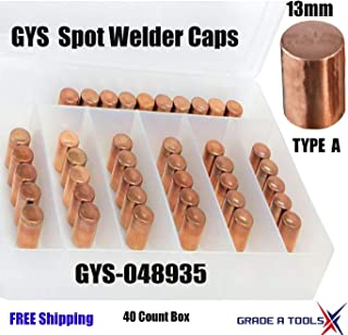 GYS Spot Weld Caps - Electrodes - 13mm