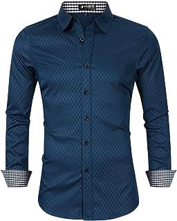 Jack /& Jones Homme King Size Slim à manches longues carreaux Casual Shirts 2XL-5XL
