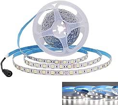 JOYLIT Flexible LED Strip Lights DC 24V White 6000-6500K No-Waterproof 6500K Super Bright 300 Units 5050 LED Tape Lights 5m
