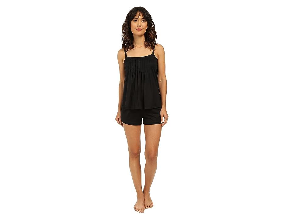 Hanro Juliet-Basic Short Pajama (Black) Women