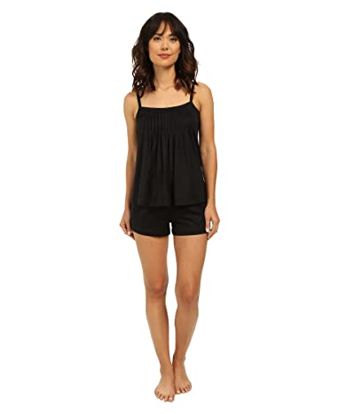 Hanro Juliet-Basic Short Pajama (Black) Women