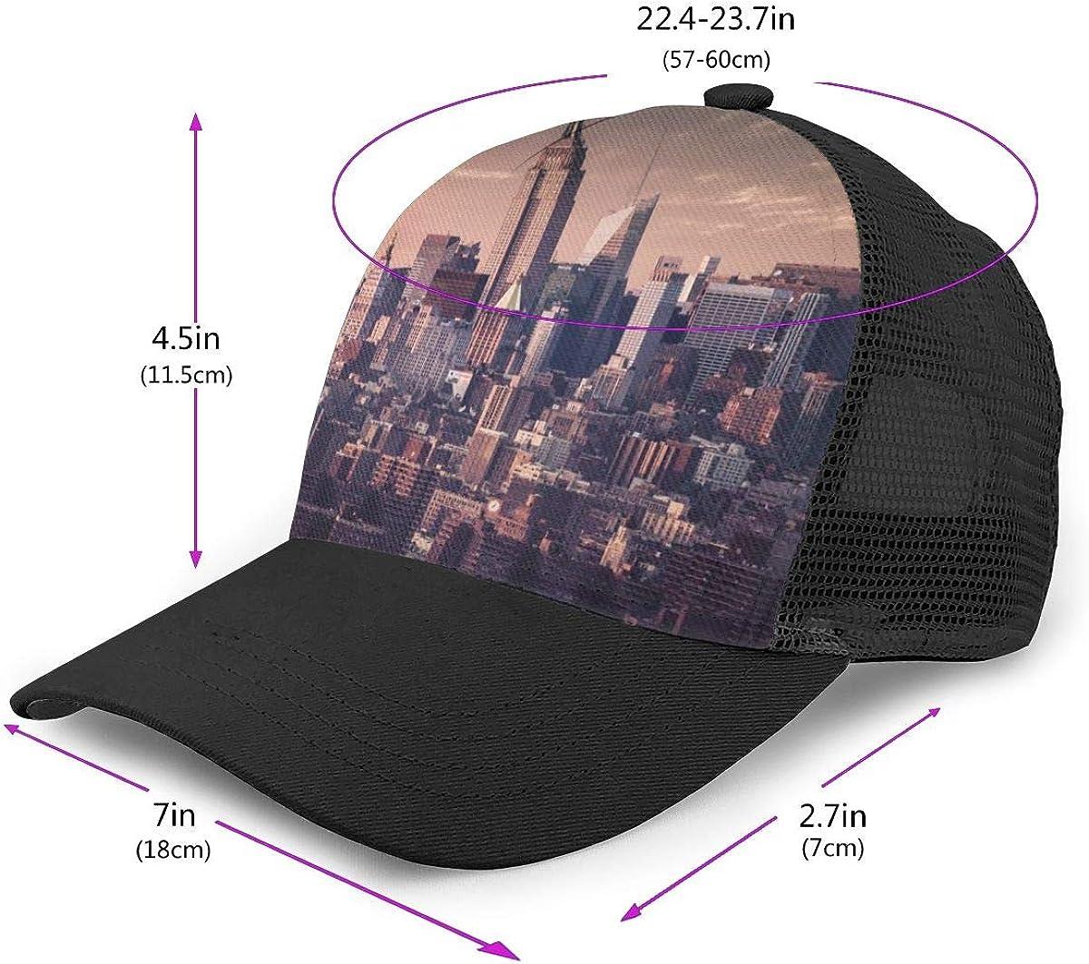 I Love NY Adjustable Baseball Visor Cap,Mesh Hat,Men Women Athletic Hats
