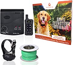 Pet Control HQ | Wireless Electric Fence and Wireless Remote Dog Training Shock Collar System | Work Together to Safely Contain and Train Your Dog | Includes Electric Fence and Shock Collar System