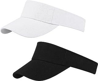 2 Pack Sun Visor Cap Sport Visor Hats Adjustable Outdoor Hat for Men and Women