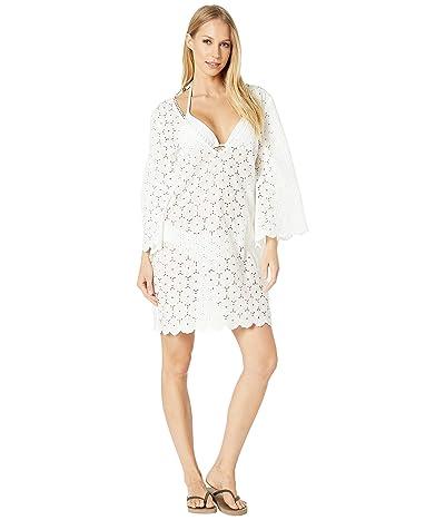 Kate Spade New York Eyelet Caftan Cover-Up (White) Women