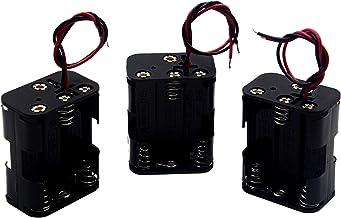 LAMPVPATH (Pack of 3) 6 AA Battery Holder, 9v AA Battery Holder, 6 AA Battery Holder with Leads