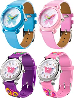 Tatuo 4 Pieces Watch for Girls Kids, Little Girls Watches...