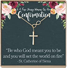 Dear Ava Confirmation Gift Necklace: Holy Confirmation for Girls, Christian Faith, Infinity Cross
