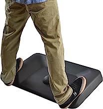 ACTIVE STANDING DESK MAT not flat ergonomic anti fatigue mat for office large contoured thick cushioned comfort floor mass...