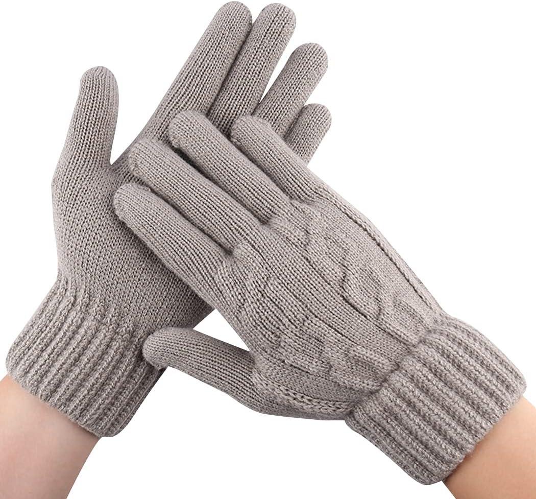 Lnrueg Men Warm Gloves Knit Breathable Touchscreen Gloves Winter Gloves Outdoor Gloves Diving Travel Lightweight Cold