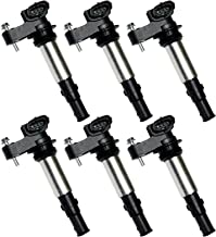 Set of 6 Ignition Coils For Cadillac SRX CTS STS GMC Acadia Buick Chevy Saab Saturn V6 2.8L 3.6L UF375 UF-375