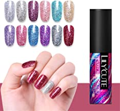 LILYCUTE Sequins Gel Polish Star Rainbow Shining Soak Off Nail UV Gel Varnish Manicure Design 5ml 12 Colors