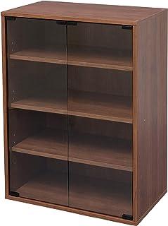 Amazon Merk Movian Module Furniture Cabinet CGK-6035 vitrinekast/boekenkast met 4 vakken en glazen deuren, ontworpen hout,...