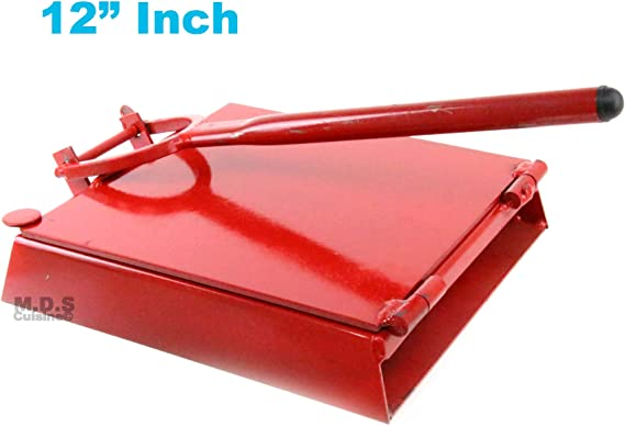 """Tortilla Press 12"""" Red Heavy Duty Iron Restaurant Commercial Authentic Mexican Tortillas"""
