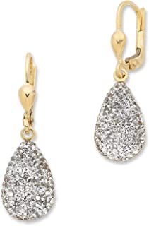 Bevilles 9ct Yellow Gold Silver Infused Crystal Earrings BF/KR(X5) NSE700183-K Drop