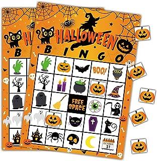 Halloween Games Bingo Cards for Kids Class School Party Supplies Activity ,24players