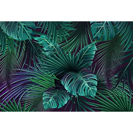 8x8FT Vinyl Backdrop Photographer,Palm Tree,Fresh Leaves Wild Plants Background for Baby Birthday Party Wedding Studio Props Photography