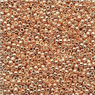 Toho Round Seed Beads 15/0 #PF551 - Permanent Finish Galvanized Rose Gold (8g)