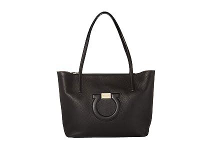 Salvatore Ferragamo City Tote (Nero) Handbags