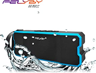 Portable Wireless Bluetooth Speakers 4.0 with Waterproof IPX65,20W Bass Sound,Stereo Pairing,Durable Design for iPhone/iPod/iPad/Phones/Tablet/Echo dot,Good Gift (Blue)