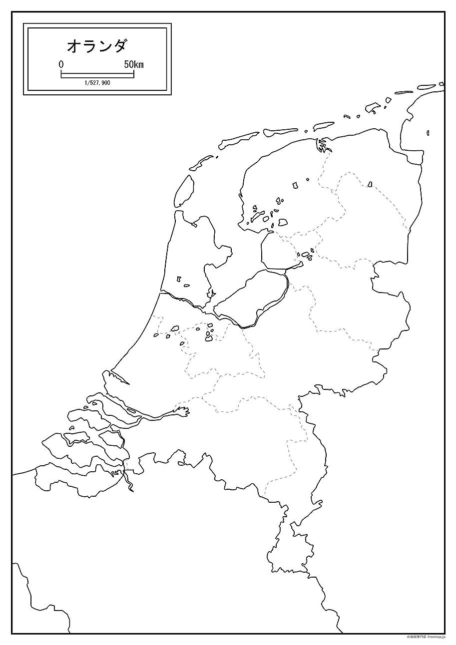 文房具チャレンジ密度オランダの白地図 A1サイズ 2枚セット