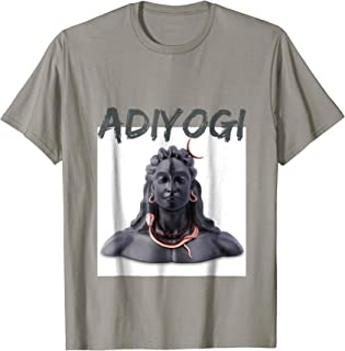 Adiyogi The Source Of Yoga Lord Shiva T Shirt for Men