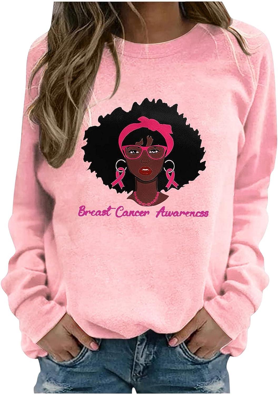 BOXIACEY Women's Crewneck Sweatshirts Cute Printed Hoodies Casual Loose Long Sleeve T-Shirt Fashion Graphic Tees