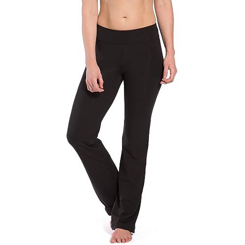 12f688ec83 Fishers Finery Women's Ecofabric Classic Bootleg Yoga Pant; Back Pockets