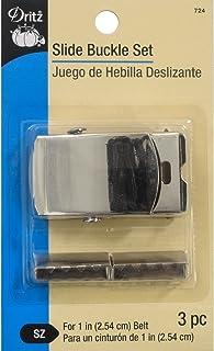 Dritz Metal Slide Buckle Set-Nickel, Other, Multicoloured, 1.37x7.62x12.06 cm