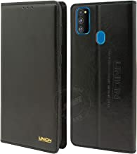 Jkobi Leather Stitch Flip Case Cover for Samsung Galaxy M30s -Black
