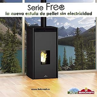 ESTUFA DE PELLET SIN ELECTRICIDAD BRONPI MODELO FREE 11 KW