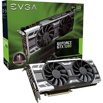 EVGA - NVIDIA GeForce GTX 1080 8GB GDDR5X PCI Express 3.0 Graphics Card - Black/silver