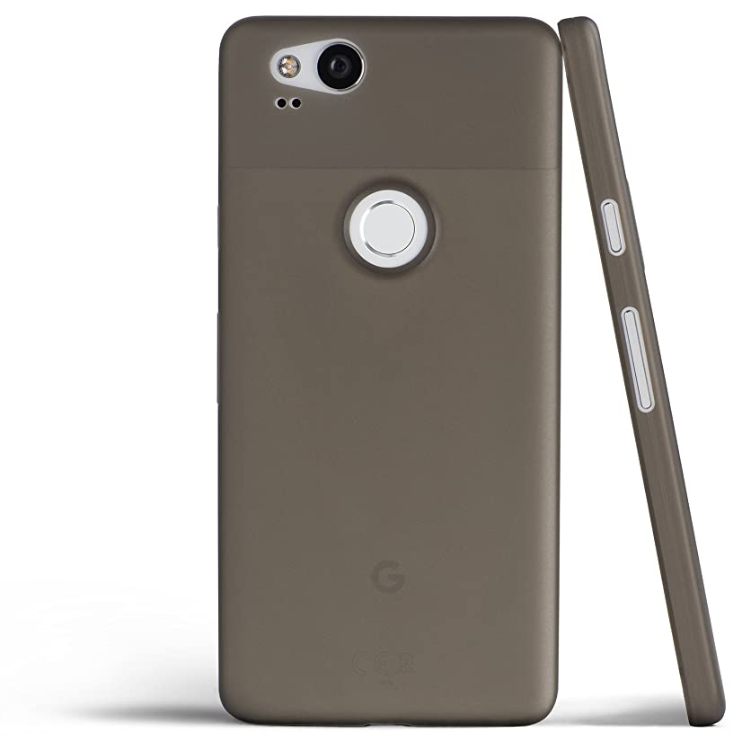 totallee Pixel 2 Case, Thinnest Cover Premium Ultra Thin Light Slim Minimal Anti-Scratch Protective - for Google Pixel 2 (Grey)